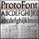 ProtoFont: font library browsing and spec sheets