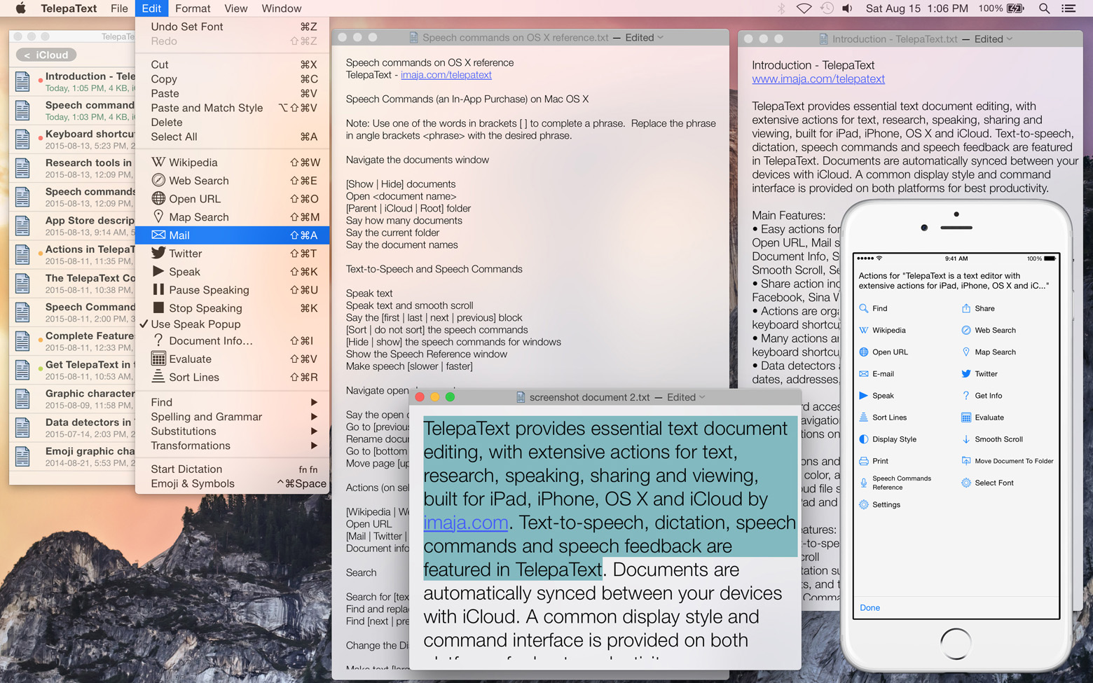Press Release: TelepaText text editor updated with new actions and