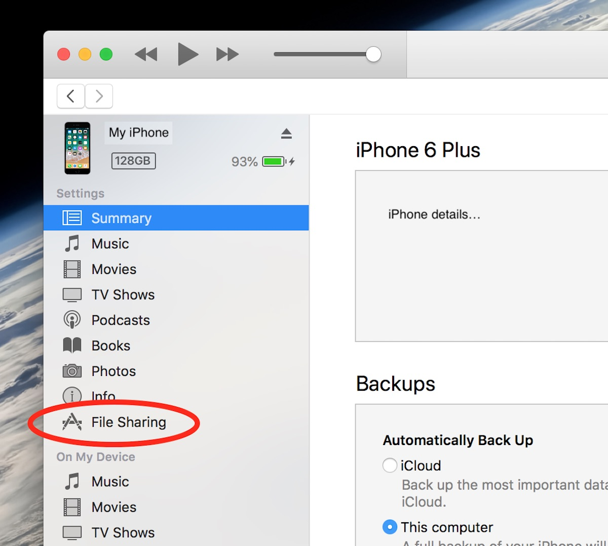 How to use iTunes File Sharing to load text files directly